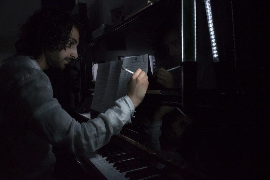 Simone Mosca composing